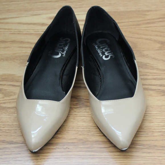 Sam Edelman Circus Tan and Black Pointy Flats 7